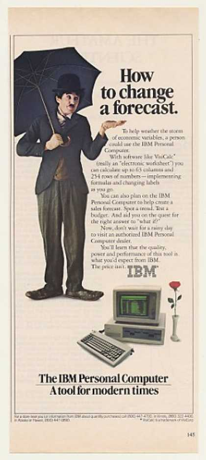 IBM PC Computer Change Forecast Little Tramp (1982)
