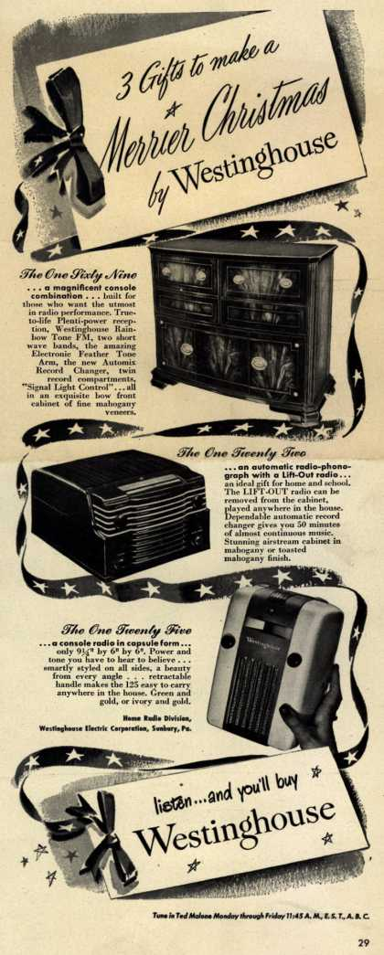 Westinghouse Electric Corporation's Various – 3 Gifts to make a Merrier Christmas by Westinghouse (1947)