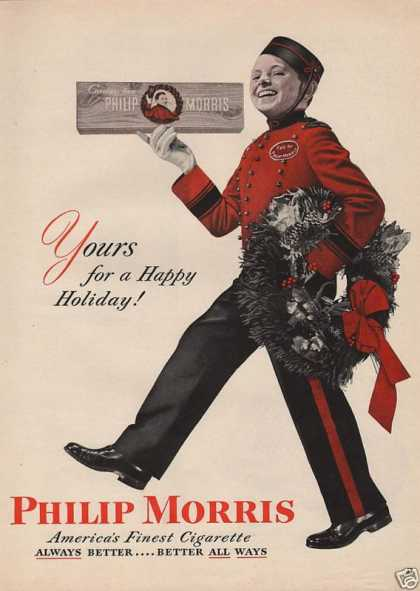 Happy Holiday Philip Morris Cigarette (1946)