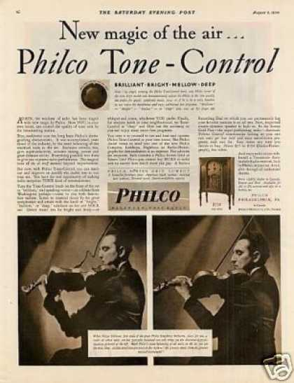 Philco Radio Ad Mitya Stillman (1930)