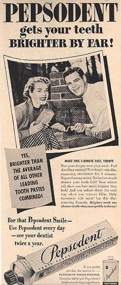 Pepsodent's Toothpaste containing Irium (1951)