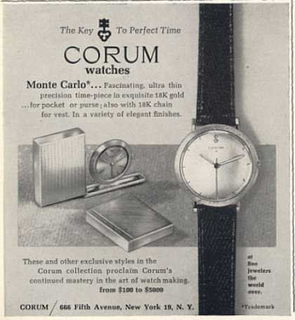 Corum Monte Carlo Watch (1963)