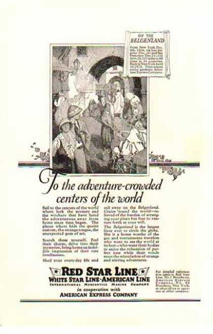 Red Star Line, White Star Line, American Line Cruise (1924)