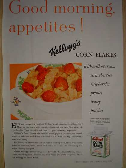 Kellogg's Corn Flakes AND Shevlin Pine Log Siding (1930)