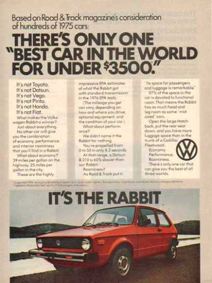 Volkswagen Rabbit Car – Red- $3,499 in (1976)