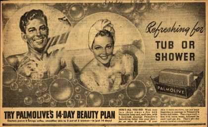 Palmolive Company's Palmolive Soap – Refreshing for Tub Or Shower (1946)