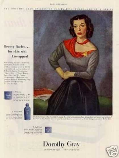 Dorothy Gray Lotion Ad Gladys Swarthout (1949)