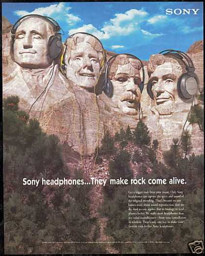 Mt Mount Rushmore Sony Headphones (1996)
