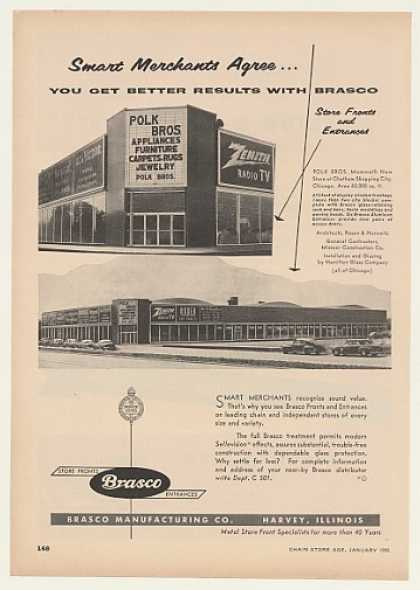 Polk Bros Chatham Shopping Chicago Brasco Store (1955)