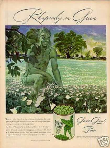 "Green Giant Peas Ad ""Rhapsody In Green... (1947)"