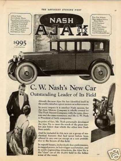 "Nash Car Ad ""C.w. Nash's New Car... (1926)"
