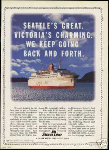 Stena Line Crown Princess Victoria Cruise (1990)