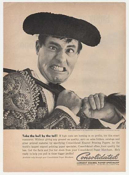 '61 Bullfighter Jerry Lewis Consolidated Paper Photo (1961)