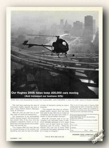Hughes 269a Helicopter Aerial View Houston Tx (1963)