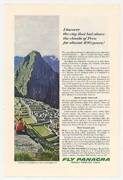 Machu Picchu Peru Photo Panagra Airlines (1963)
