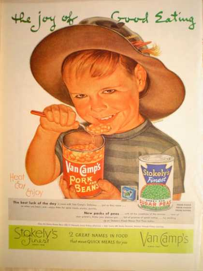 Van Camp's Pork Beans Stokely's Sugar Peas (1952)