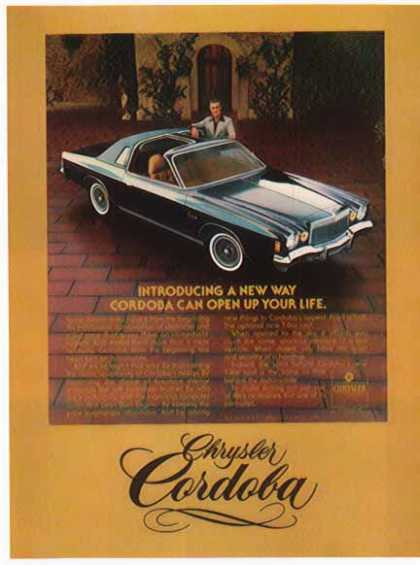 Chrysler Car – Cordoba / Burgundy with Ricardo Montalban – Sold (1975)