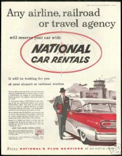 Ford Fairlane 500 National Car Rentals Vintage (1958)
