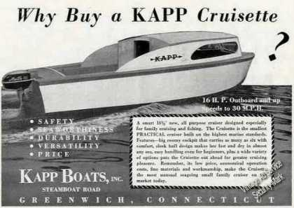 Kapp Cruisette Photo Greenwich Ct Boat (1951)