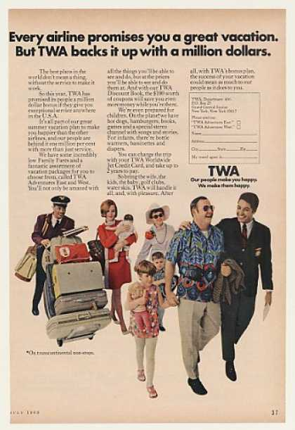 '69 TWA Airlines People Million Dollar Bonus Service (1969)