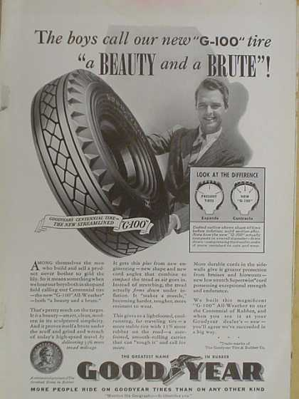 Goodyear tires. A beauty and a brute (1939)