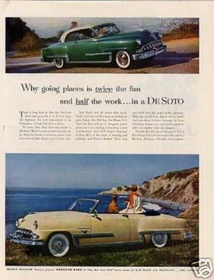 "Desoto Car Ad ""Why Going Places... (1953)"