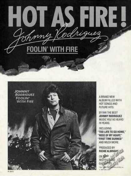 "Johnny Rodriguez ""Foolin' With Fire"" Album (1984)"
