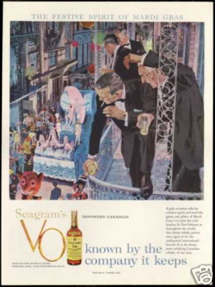 New Orleans Mardi Gras Seagram's VO Whisky (1959)
