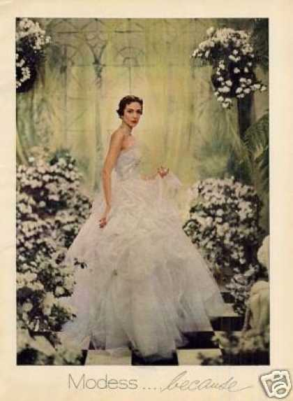 Modess Ad Lady In White Gown (1951)