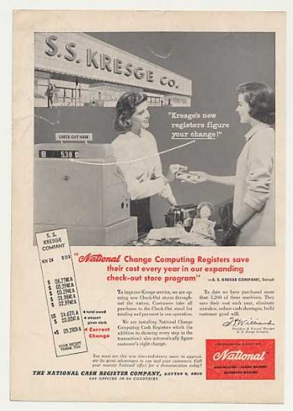 SS Kresge Store NCR National Cash Register (1957)