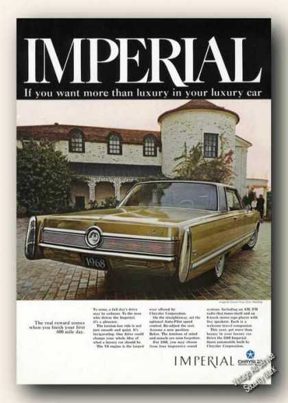 Chrysler Imperial More Than Luxury Car (1967)