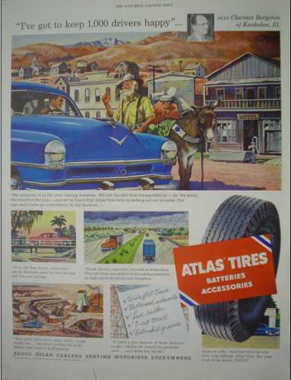 Atlas Batteries Tires and accessories Auto Parts (1953)