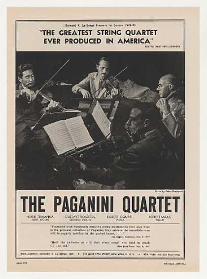 The Paganini Quartet Photo Booking (1948)