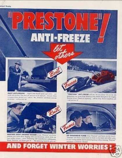 Prestone Anti-freeze Ad Centerfold (1939)