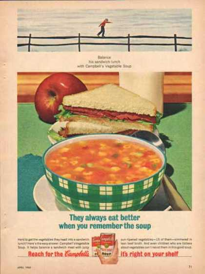 Campbell's Vegetable Soup – Balance his lunch… – Sold (1965)
