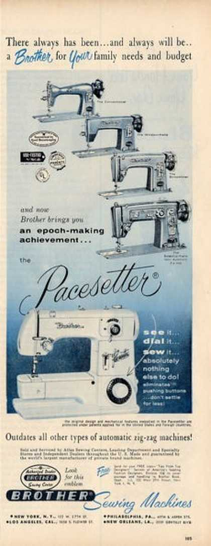Brother Sewing Machine Pacesetter Ad T (1956)