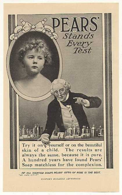 Pears Soap Stands Every Test Little Girl (1908)