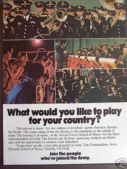 Play for Your Country Army Band Recruiting (1979)