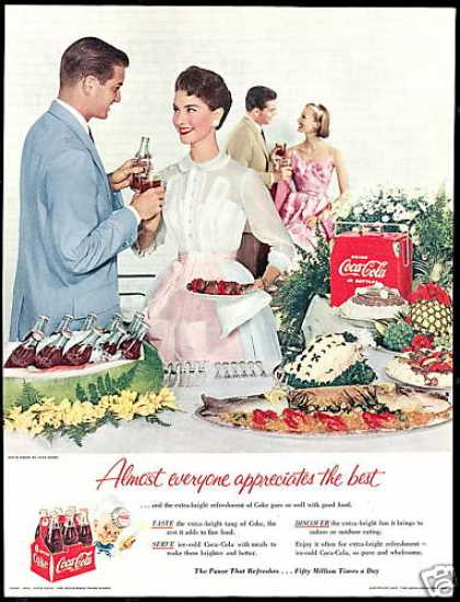 Coke Coca Cola Pretty Lady Couples Party (1955)
