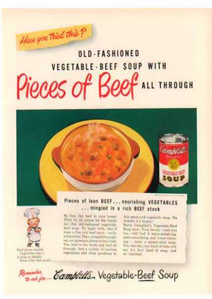 Campbell's Vegetable-Beef Soup – Have you tried this? (1949)