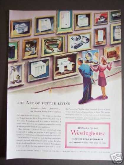 Pre-war Appliance Art Galery Westinghouse (1944)