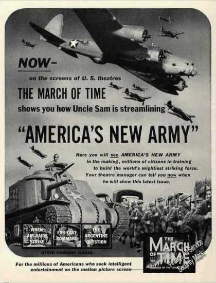 "Wwii ""America's New Army"" March of Time Movie (1942)"