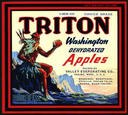 Triton Dehydrated Apples, c. 			s (1920)