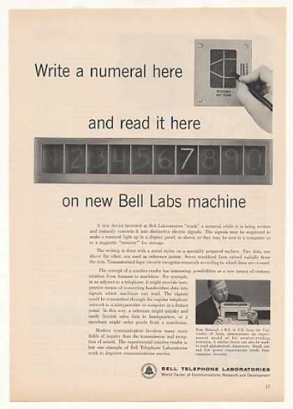 Bell Telephone Labs Number Reader Machine (1958)
