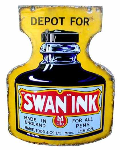 Swan Ink Depot Enamel Sign