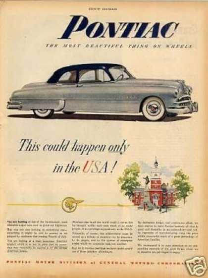 "Pontiac Car Ad ""This Could Only Happen... (1949)"