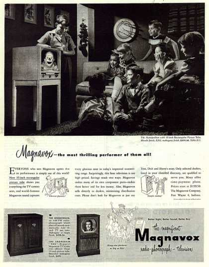 Magnavox Company's Television – Magnavox – the most thrilling performer of them all (1950)