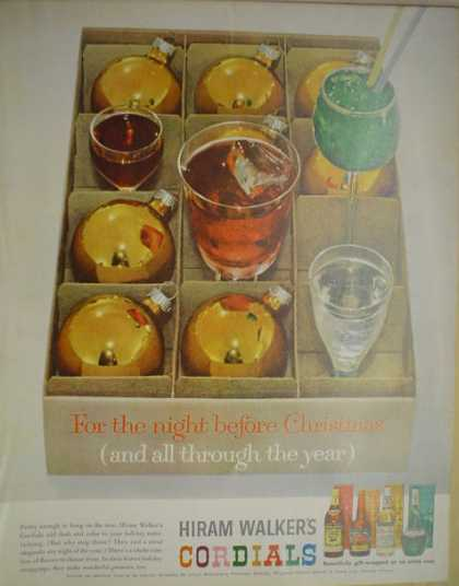Hiram Walker's Cordials The night before Christmas (1962)
