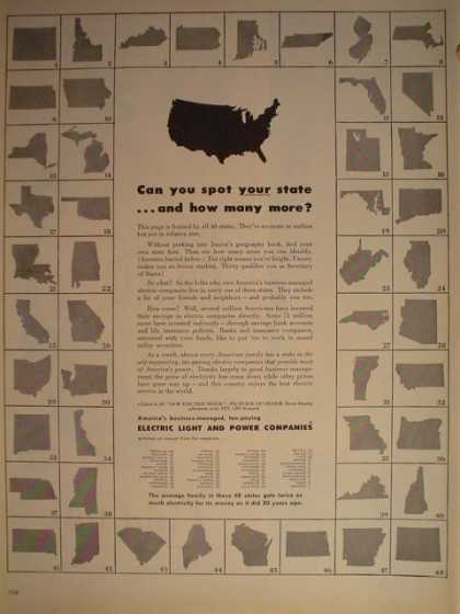 Electric light and power companies 48 states (1946)