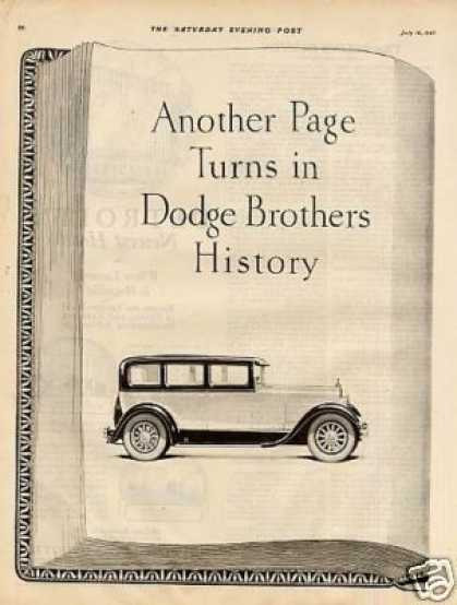 Dodge Brothers Car Ad 2 Page (1927)